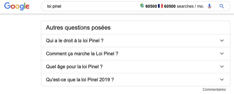 autres questions posées dans Google